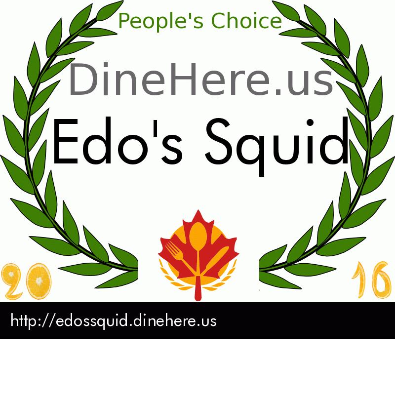 Edo's Squid DineHere.us 2016 Award Winner